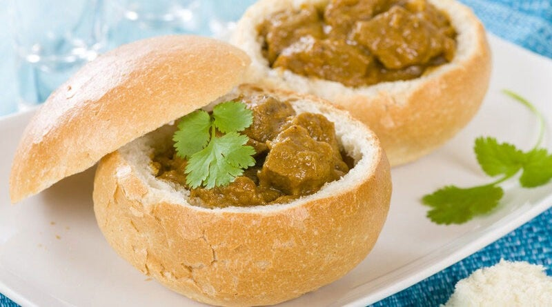 bunny chow, south african recipe