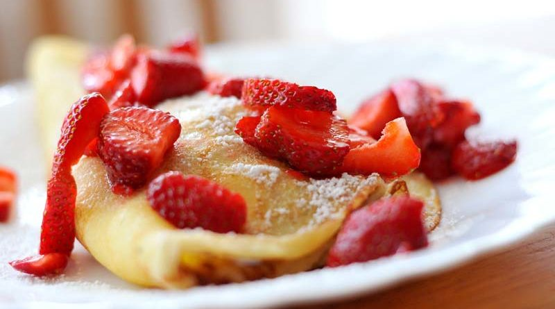 strawberries pancake