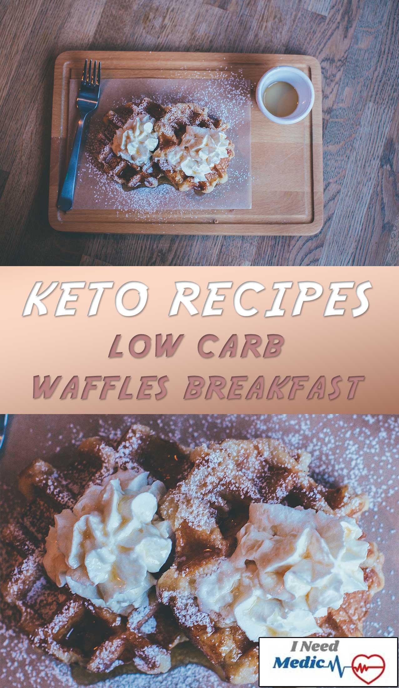 low carb breakfast, waffles keto