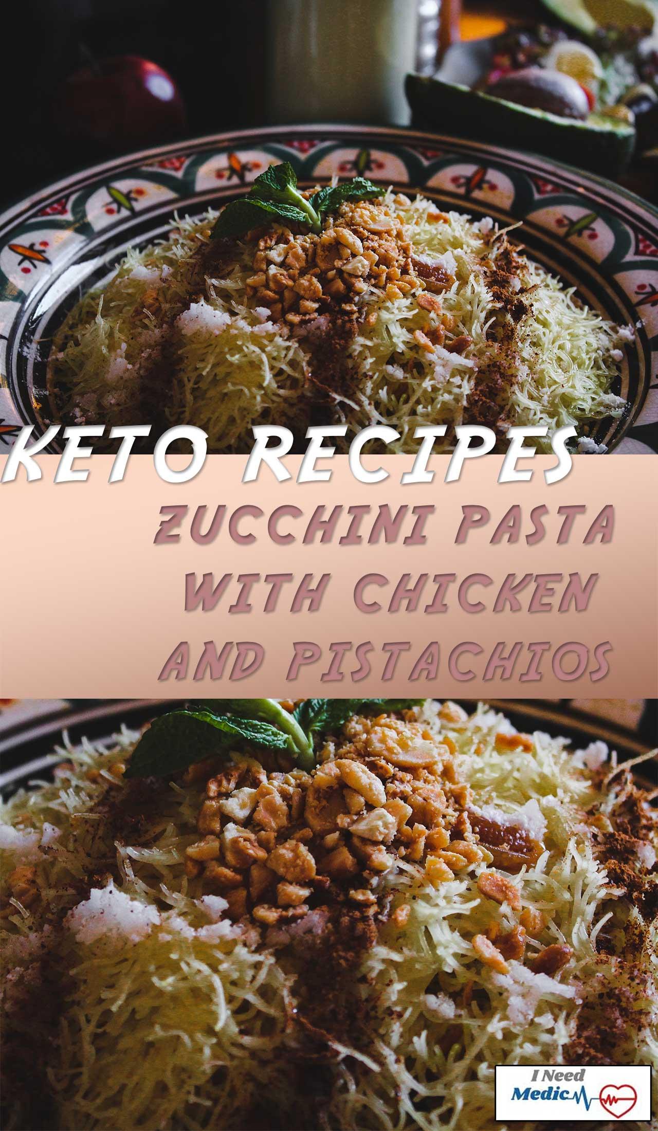 Zucchini Pasta with Chicken recipes, keto recipes