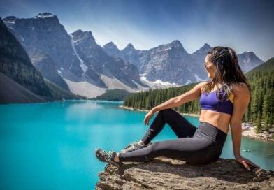 sexy woman in canada lake