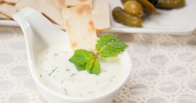 raita, mint ginger yogurt
